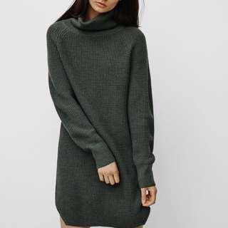 Aritzia Bianca Dress Dark Grey For Sale (Size: S)