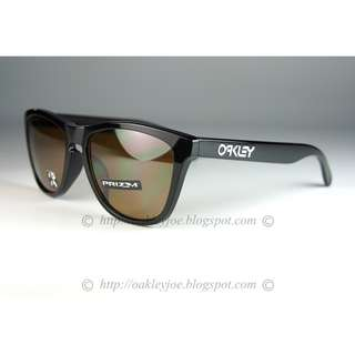 8606f2edab BNIB Oakley Custom Frogskins Asian Fit polished black + tungsten prizm polarized  lens sunglass shades