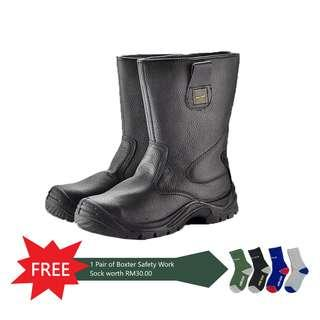 BOXTER SAFETY SHOES HIGH CUT RIGGER BOOTS IN TYSON WITH HIGH QUALITY  EMBOSSED COW LEATHER ( 07bee12f65
