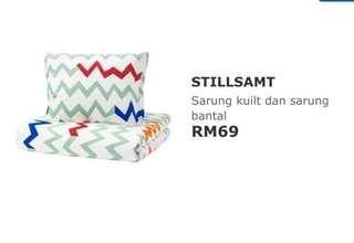 Ikea bedsheet stillsamt (single)