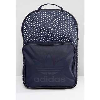 🚚 【全新現貨】英國 ASOS 購入 水玉 點點 adidas originals 三葉草 logo 後背包 背包