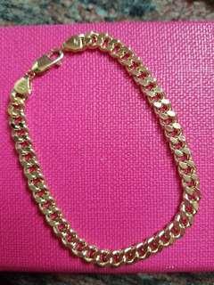 18K750 Yellow Gold 6.4mm Bracelet (8.5 inches Long )🍃ItalyMade🍃18K750黃金意大利手鍊