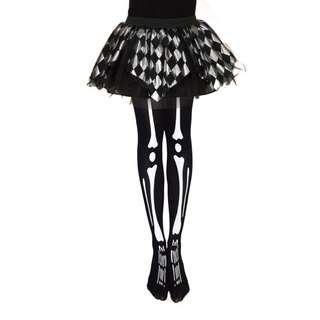 (Christmas discount)Women's Skeleton Stockings Long Knee High Socks Halloween Cosplay Costume