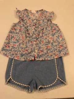 H&M Baby Shorts and Blouse