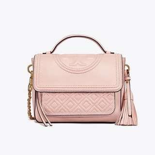 Tory burch fleming satchel pink