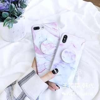 [Pre-Order] Marble Phone Case with Pop Socket