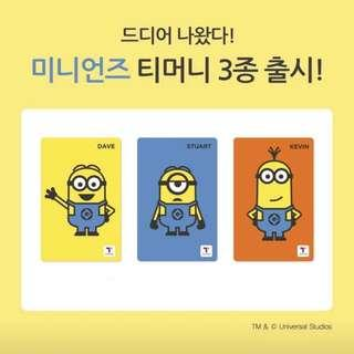 韓國最新!🇰🇷Minions T-Money card 韓國交通卡 八達通