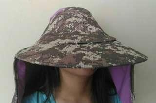 Army Digital Sun Hat Wide Brim (Handmade) #DEC50
