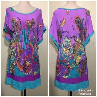 purple Adjustable Stretchable Dress/ Maternity