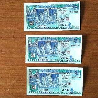 VINTAGE SINGAPORE DOLLARS $1