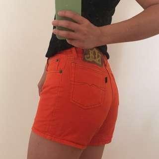 Vintage orange shorts