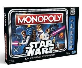 Hasbro Star Wars monopoly 40 anniversary special edition