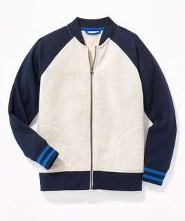 BN Oldnavy big kids Color-Block bomber track jacket
