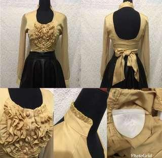 Blouse gold sexy