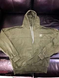 Adidas original hoodies 墨綠色