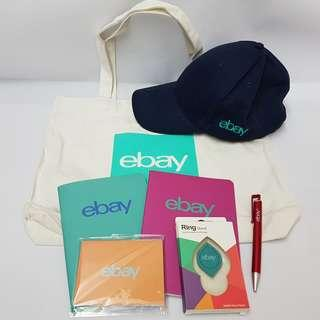 eBay Special Merchandise (Note Books, Sticky Note, Phone Ring Stand, Cap, Pen & Recycle Bag)