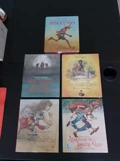 A set of 5 children classic storybook