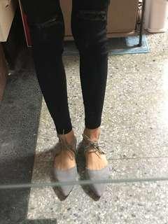🚚 全新D+AF麂皮綁帶平底鞋✨