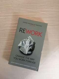 Book : Rework by Jason Fried & David Heinemeier Hansson