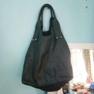Authentic Zara leather hobo bag