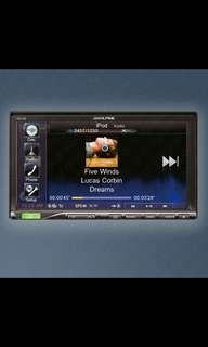 "Alpine Ics-x8. 7"" Touch screen, Built in Bluetooth, Mirror Link. Car Radio And Audio System"