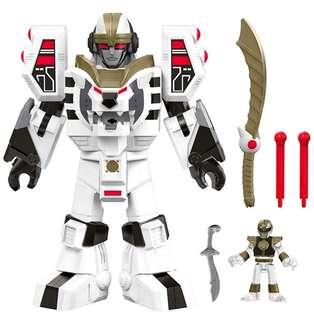 (Pre-Order) Fisher-Price Imaginext Power Rangers White Ranger & Warrior Mode Tigerzord
