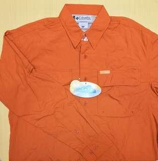 全新 Authentic 正版 Columbia 哥倫比亞 男裝  UPF25 防曬 恤衫 -Size S- *未剪牌*
