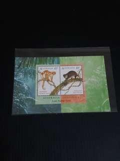 2004 Australua Indonesia Joint, Monkey, MNH, Toning On Bk
