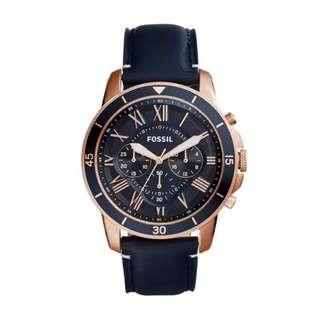 [LIMITED OFFER] Fossil Grant Sport Chronograph Blue Leather Watch