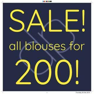 Blouses for 200!