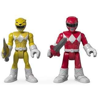 (Pre-Order) Fisher-Price Imaginext Power Rangers Red Ranger & Yellow Ranger