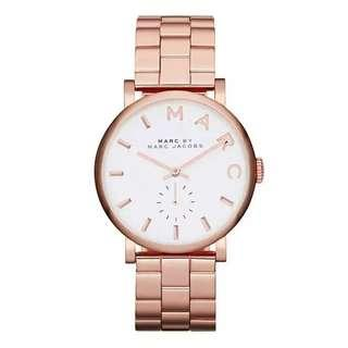 Marc By Marc Jacobs Baker Rose Gold-tone Women's Stainless Steel Watch