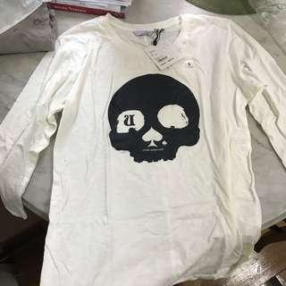Limited edition UNIQLO UNDERCOVER UU  SKULL size s t shirt