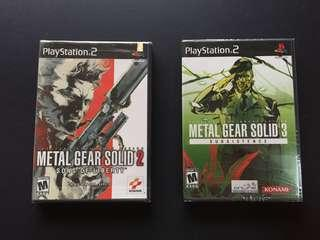 Brand New Metal Gear Solid 2 & 3 PS2 Original