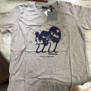 Limited edition UNIQLO UNDERCOVER UU GRAY SKULL t shirt