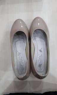 Sepatu block heels woman shoes wedges heels