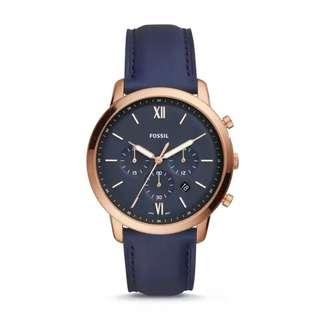 NEW MODEL - Fossil Neutra Chronograph Navy Leather Watch