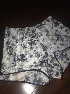 Active floral shorts