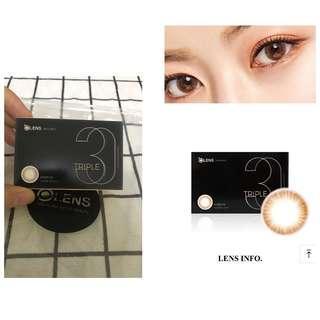 New❗️OLENS triple brown monthly contact lens korea