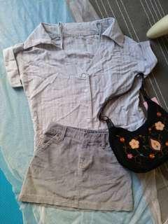 🚚 真品麂皮肩背包+GAP裙子+韓版襯衫 三樣商品全部499帶回家
