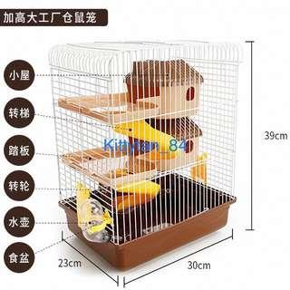 Hamster Cage Brown 2 Tier