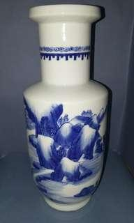 Blue and white vase ( Ching)