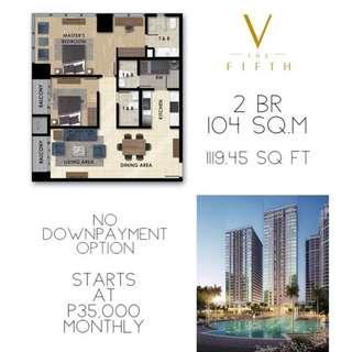 pre-selling 2 bedroom w maids room beside Ayala 30th Mall