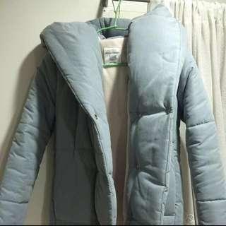 正韓超厚鋪棉內刷毛連帽外套