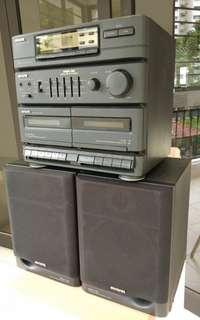 Vintage Japan Aiwa speakers cassette tapes player radio mini hi fi digital nsx -30