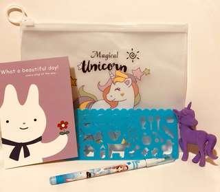 Unicorn party pack ( birthday , Christmas )