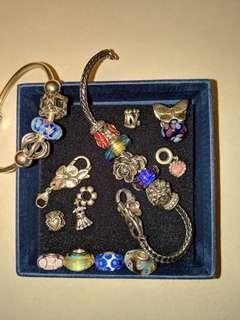 Trollbeads & Pandora bracelet & charms