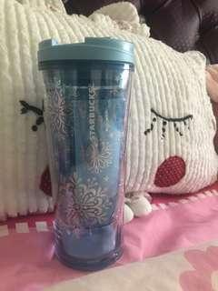 Starbucks Tumbler Snow Christmas Bling Bling