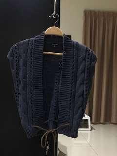 Massimo Dutti Knit Blue Outer & Sportsgirl Tank Top (Size S)