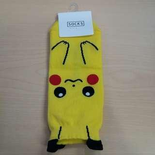 (包郵) 韓國比卡超襪 pikachu socks korea